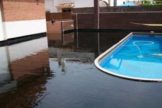 impermeabilització zona piscina materials bituminosos impapol resin