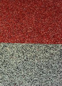 ampliación pavimento decorativo silice exterior vic impermeabilizado membrana líquida poliuretano con silice color