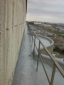 impermeabilització nau industrial sabadell poliurea calenta impapol resin