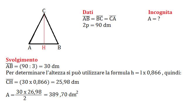 Problemi Sul Triangolo Equilatero Con Pitagora Seconda Media