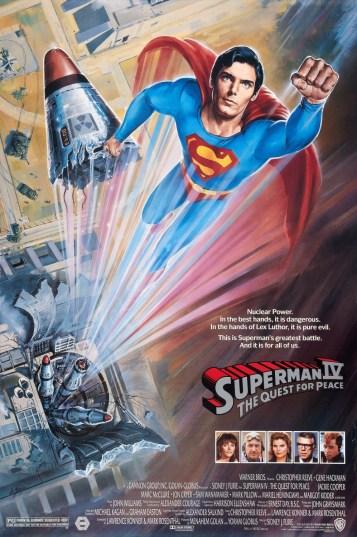 Resultado de imagen para Superman IV: The Quest For Peace Movie Poster