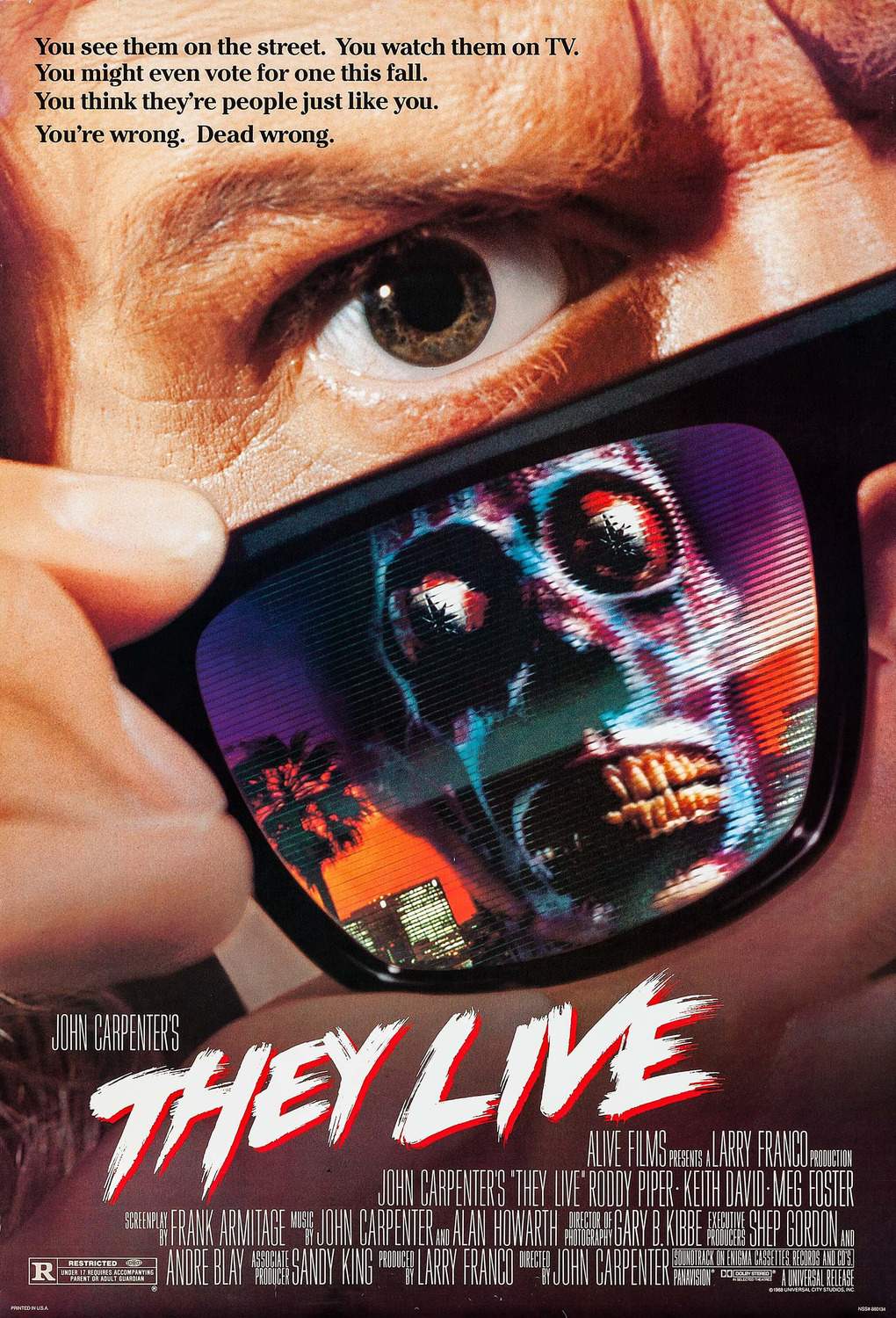 Extra Large Movie Poster Image for They Live