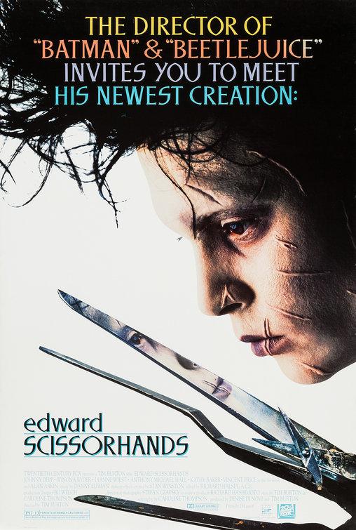 Resultado de imagen de edward scissorhands poster