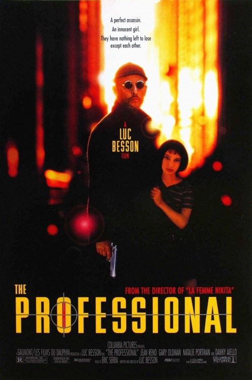 Jean Reno and natalie portman the professional movie poster