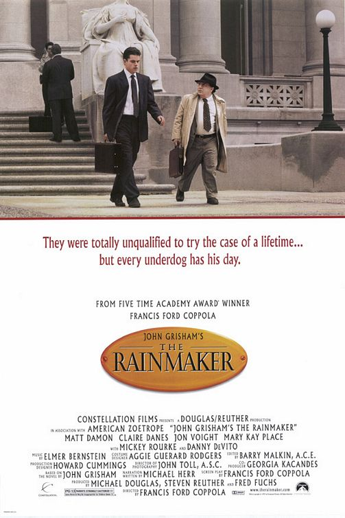John Grisham S The Rainmaker Movie Poster Imp Awards