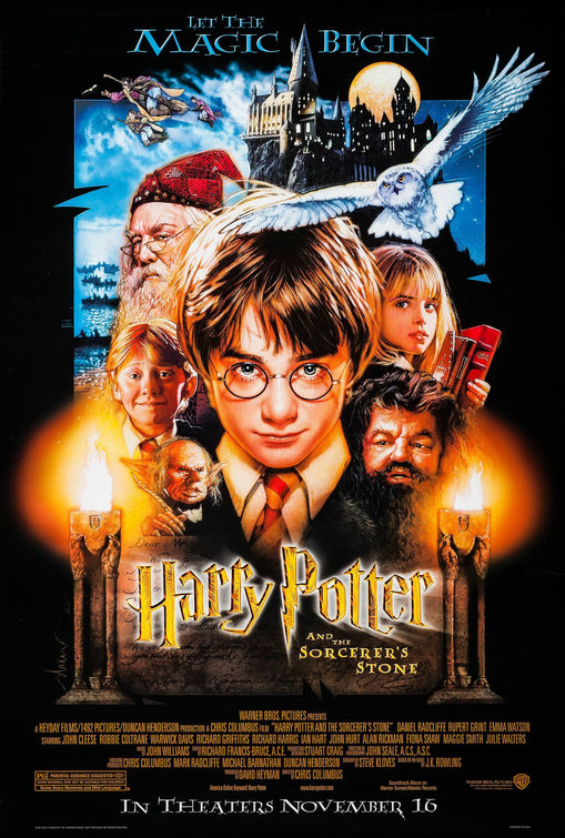 Image result for harry potter and the philosopher's stone movie cover