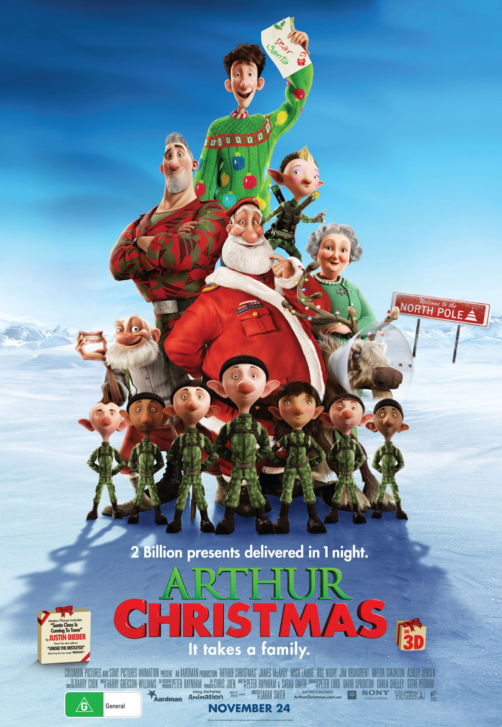 Image result for arthur christmas poster