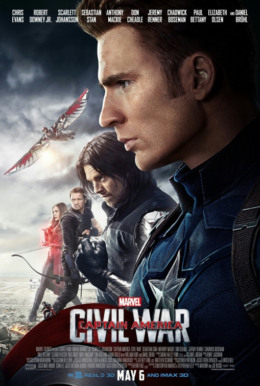 Image result for captain america civil war movie poster