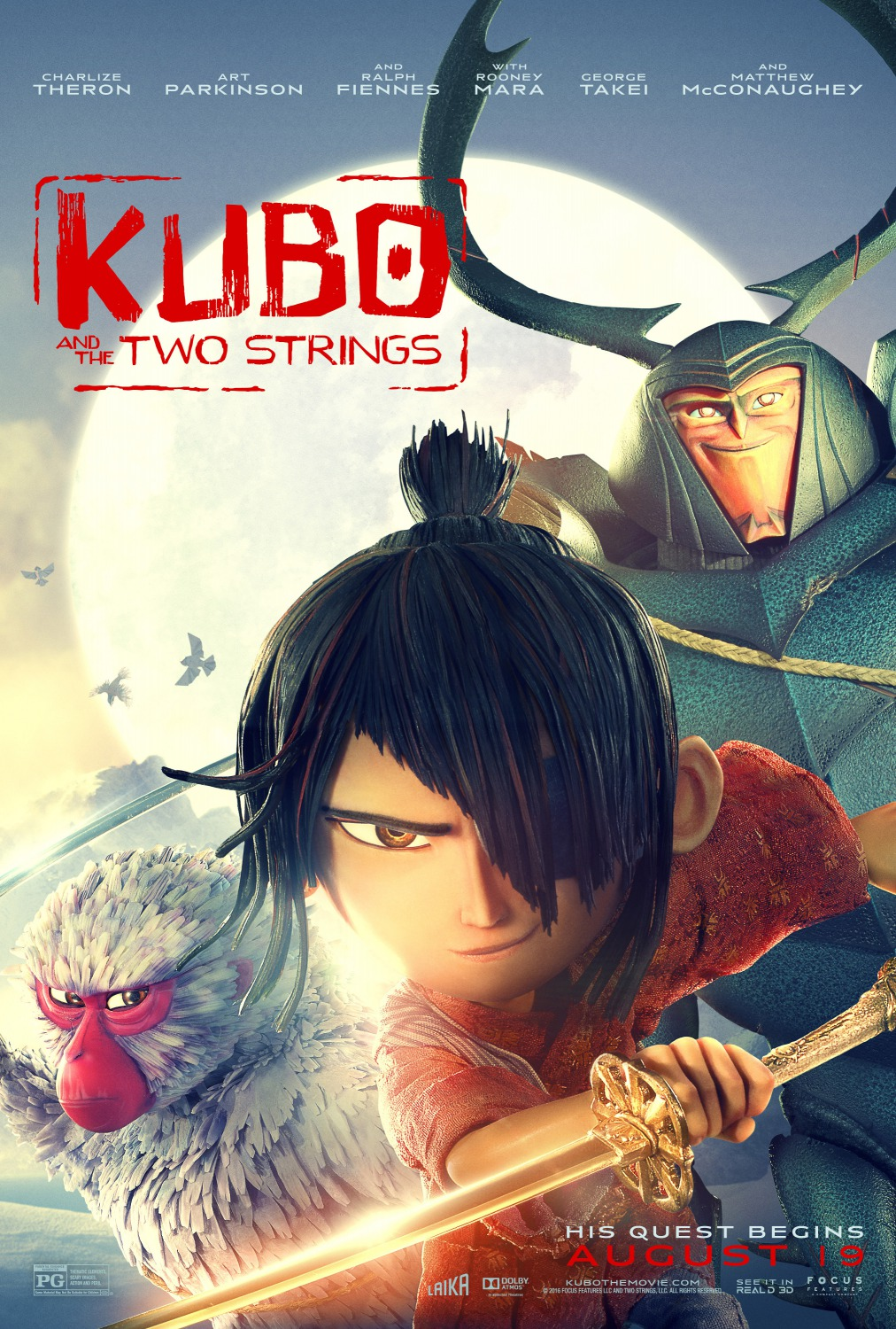 Image result for kubo and the two strings movie poster