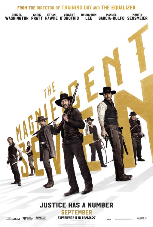 Image result for the magnificent seven 2016 movie poster