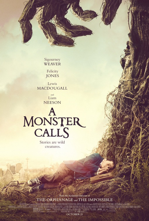 Image result for a monster calls movie poster imp