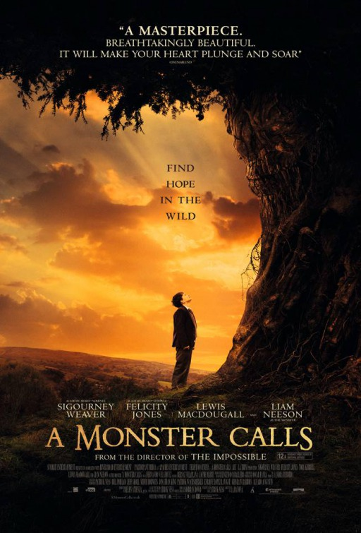 Image result for a monster calls movie poster