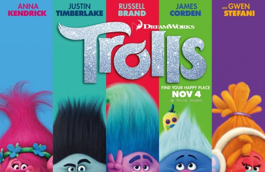 Image result for trolls movie poster