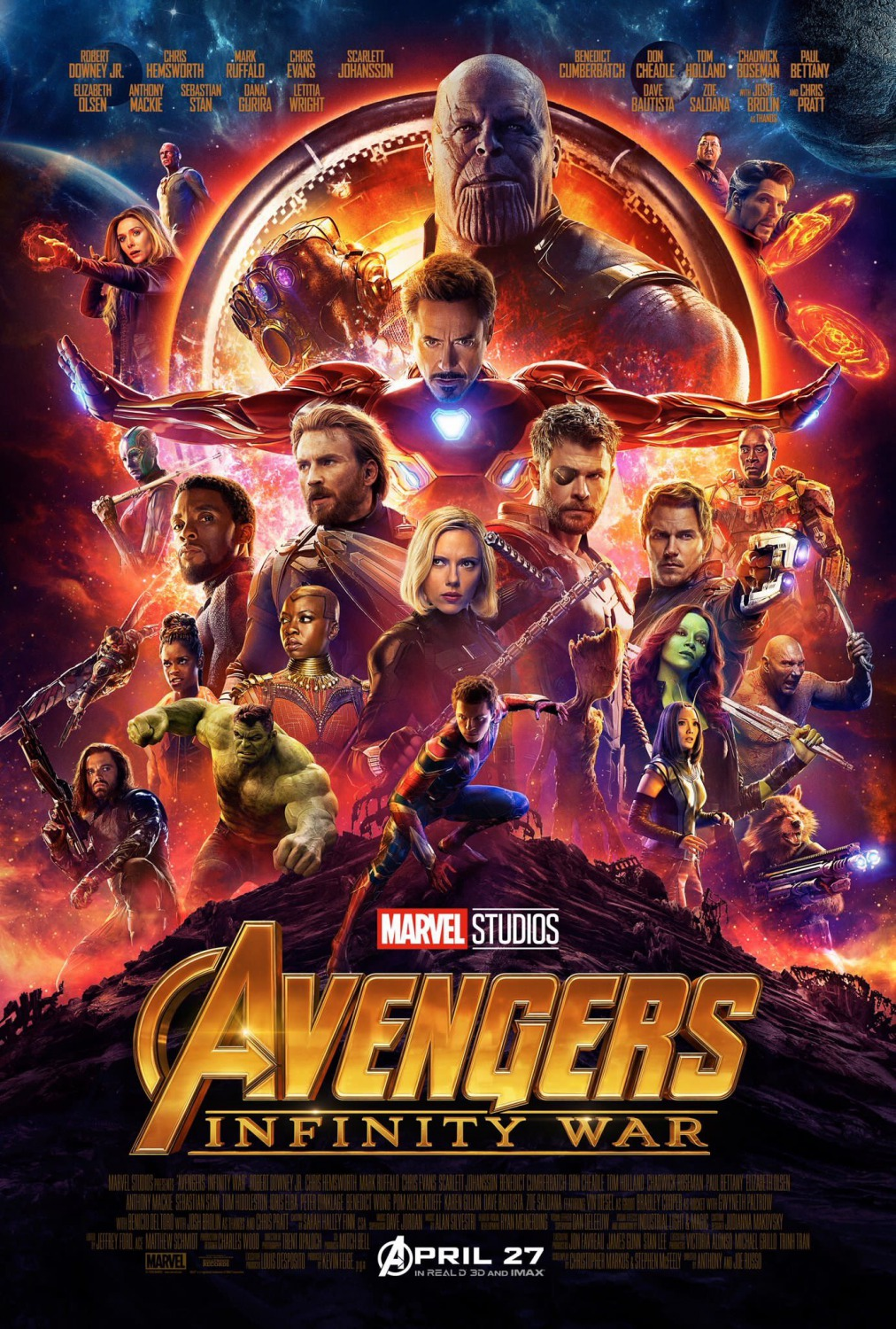 Extra Large Movie Poster Image for Avengers: Infinity War (#2 of 2)
