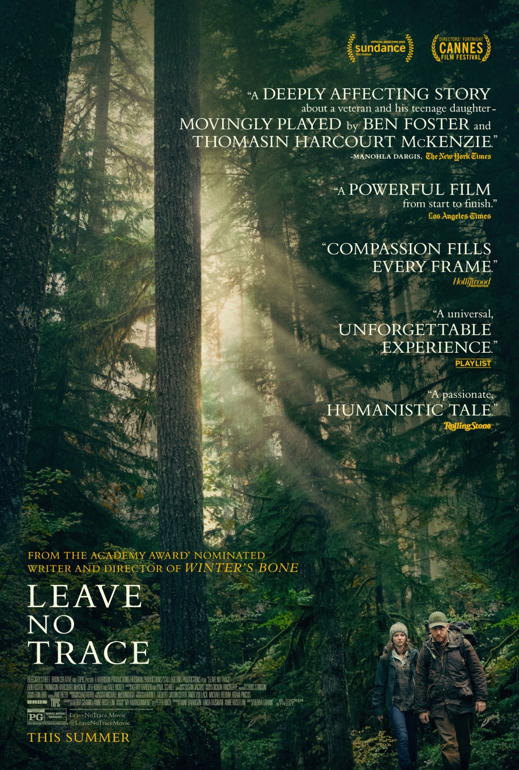 Extra Large Movie Poster Image for Leave No Trace
