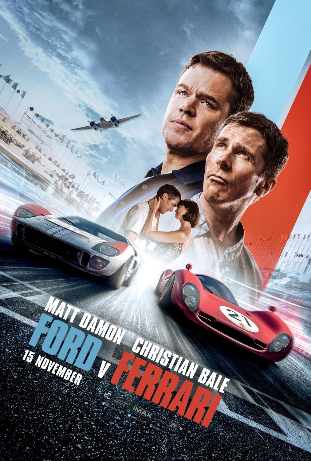Extra Large Movie Poster Image for Ford v. Ferrari (#5 of 5)