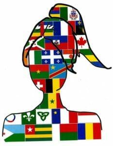 Femme drapeau