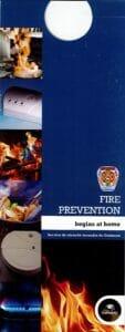 """Dépliant """"Fire Prevention"""""""