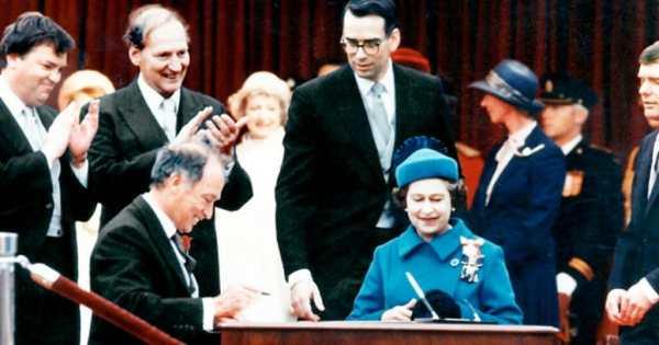 Constitution canadienne 2021 - la signature