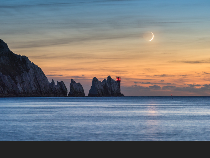 Crescent Moon over the Needles