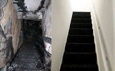 Before & After: House Fire Insurance Claim