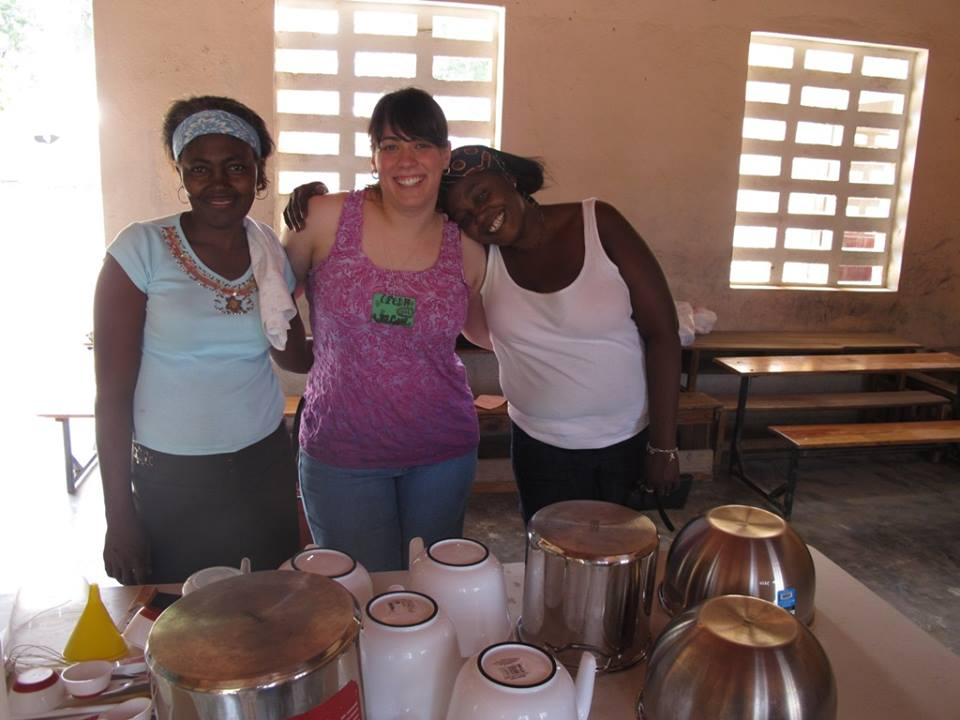 AMANDA, CO-DIRECTOR OF THE LOVIN' SOAP PROJECT, ALONG WITH SISTERS GARMANE AND ALINE.