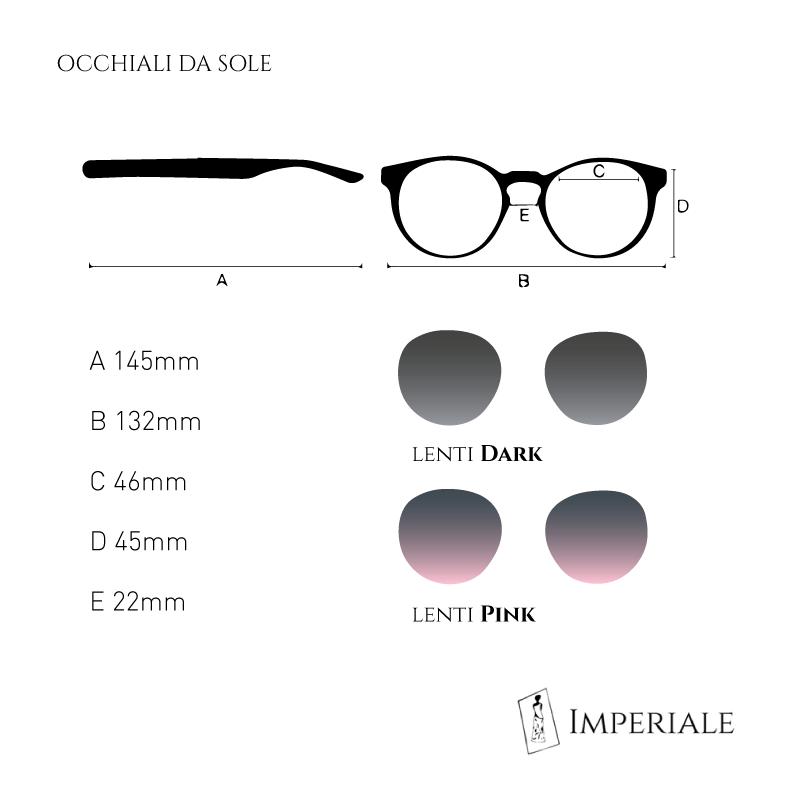 specifiche e misure degli occhiali da sole Imperiale Bolgheri