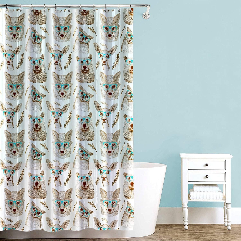woodland creatures shower curtain