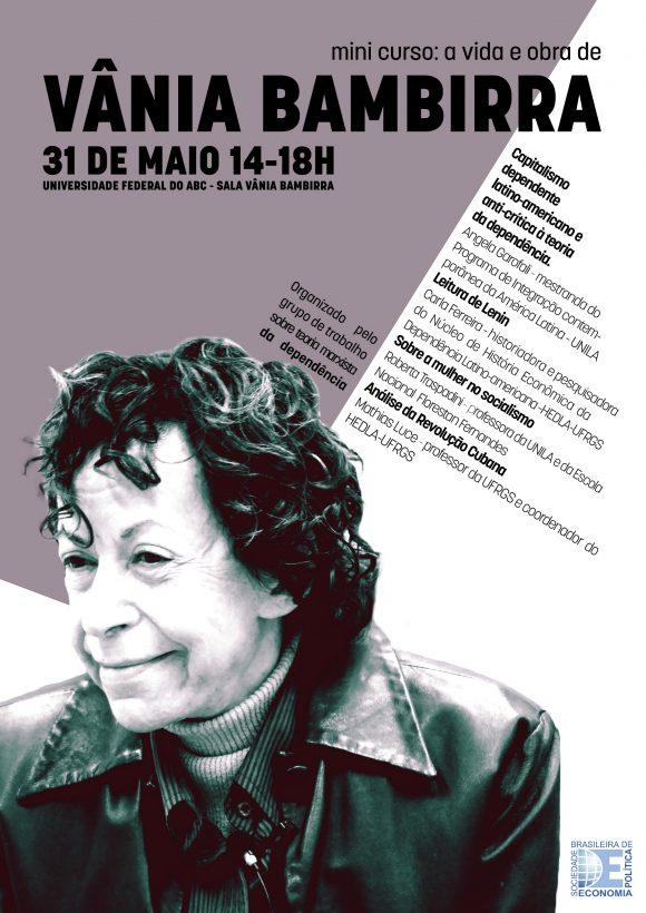 Mini-curso no XXI ENEP: vida e obra de Vânia Bambirra