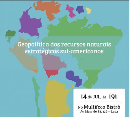 Lançamento de Livro Geopolítica dos Recursos Naturais Estratégicos sul-americanos