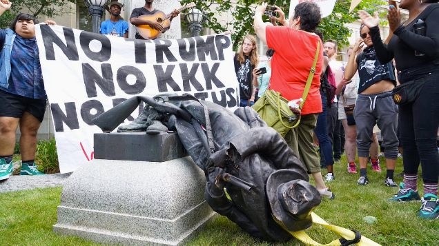 WATCH: Protestors take down Confederate statue in Durham, North Carolina