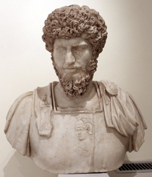 Busto de Lucio Vero, el hermano de Marco Aurelio.