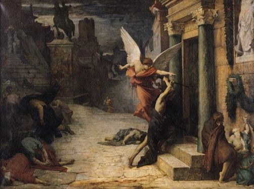 Las pestes de Roma, pintura.