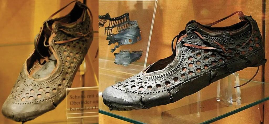 Las clases patricias contaban con elaborados calzados. Como por ejemplo este zapato de mujer actualmente en le museo de Saalburg.