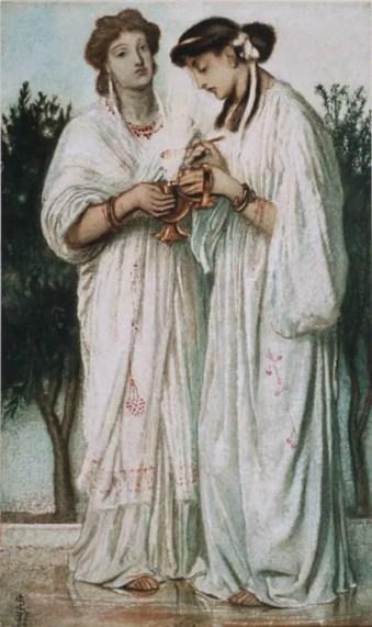 Pintura de las vírgenes vestales.