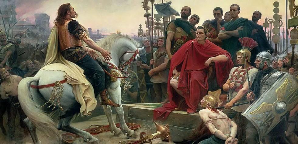 Asedio de Alesia, la rendición de Vercingétorix.
