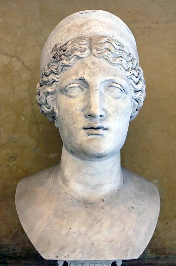 Busto de la diosa Hera.