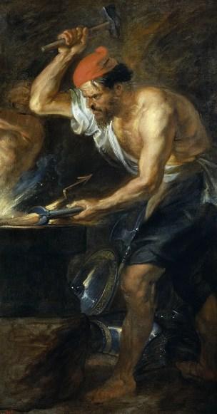 Pintura de Hefesto por Rubens.