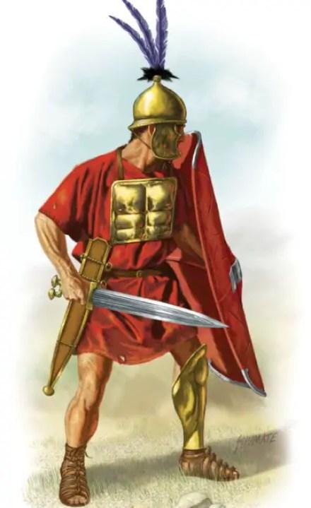 Ilustración de un hastatus antiguo.