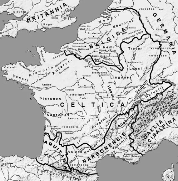 Mapa de las Galias