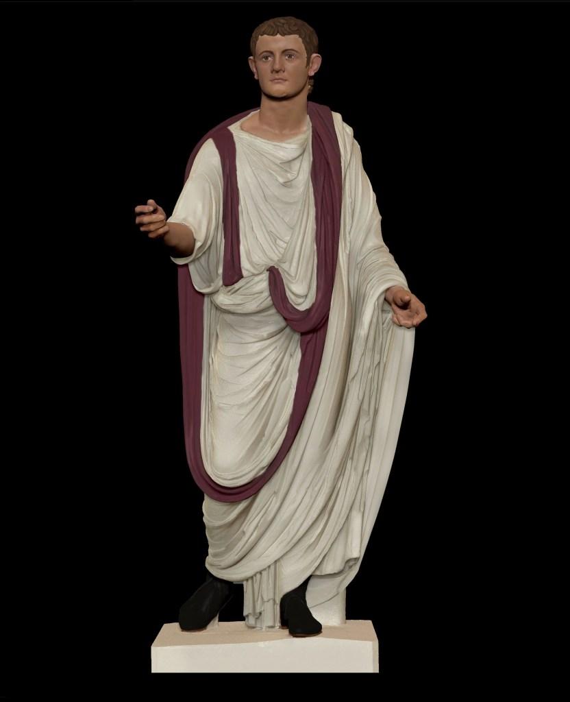 Modelo de una toga praetexta.
