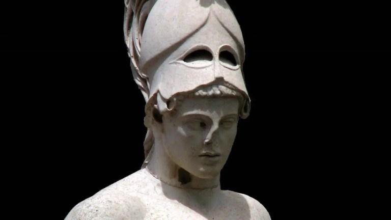 Detalle de una estatua de Ares, el dios griego de la guerra.