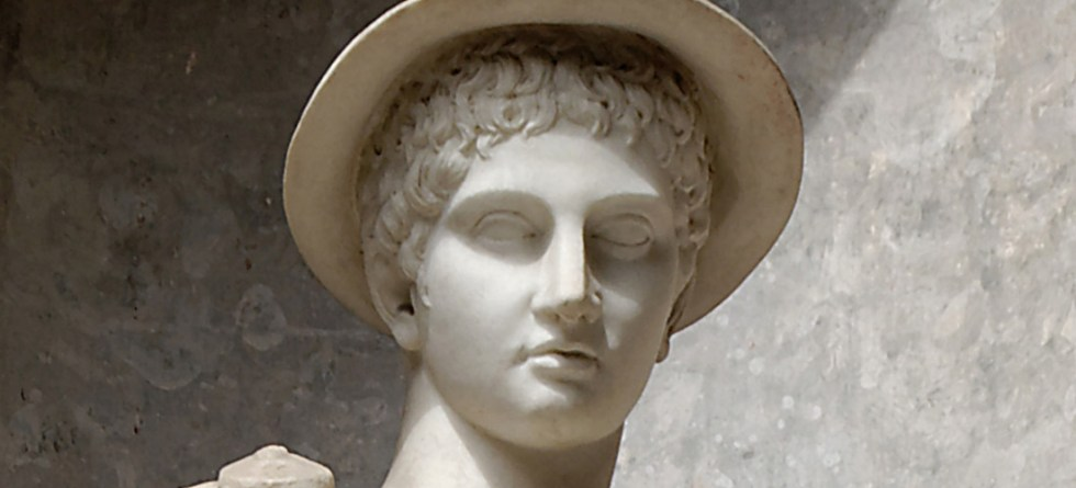 Hermes Ingenui, réplica romana en mármol del siglo II a.C. de una estatua griega de Hermes (Mercurio) del siglo V a.C.