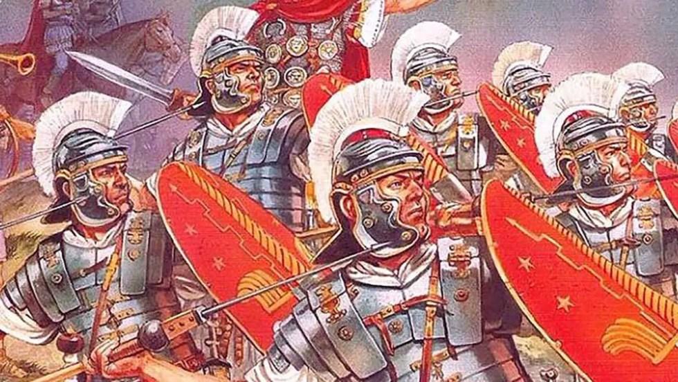 Pretorianos romanos al ataque.