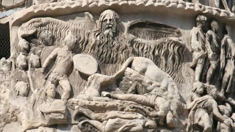 Detalle de la columna de Marco Aurelio.