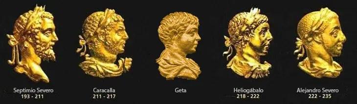 Emperadores de la dinastía Severa.