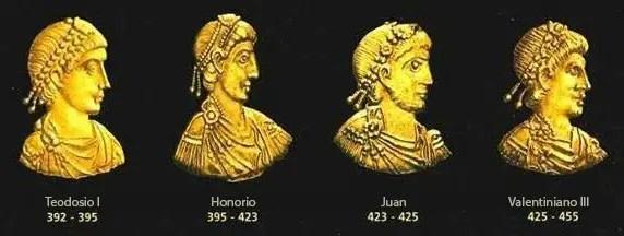 Emperadores de la dinastía Teodosiana.