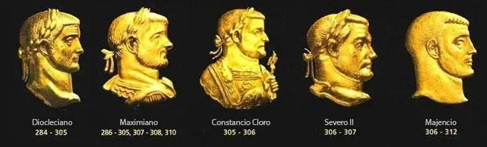 Emperadores romanos de la tetraquía.