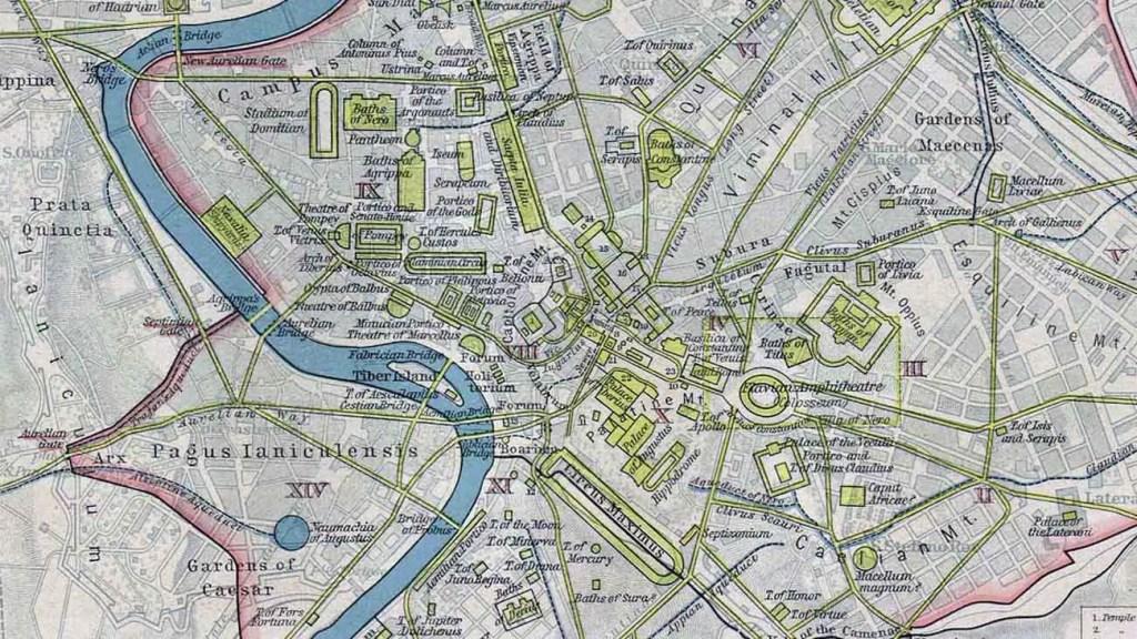 Planos de las ciudades romanas.