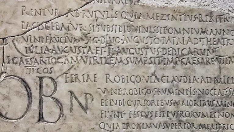 Fragmento del Fasti Praenestini.